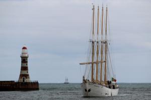 Tall ship entering Port of Sunderland