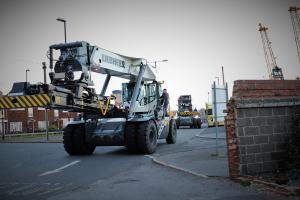 Liebherr Reachstackers entering Port of Sunderland
