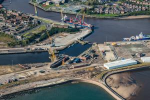 Aerial of Port of Sunderland