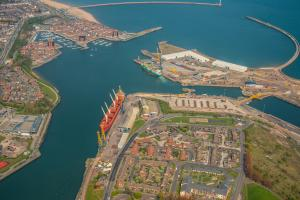 Aerial image of Port of Sunderland