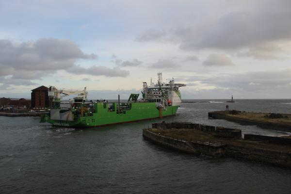 Living Stone leaving Port of Sunderland